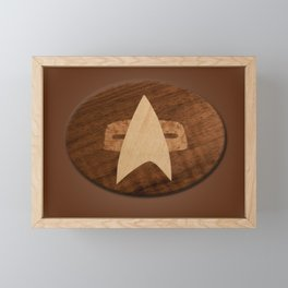 space badge for the fans Framed Mini Art Print