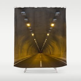 Funneling Tunnel with One Way to go. Shower Curtain