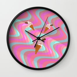 We All Scream For Ice Cream  Wall Clock