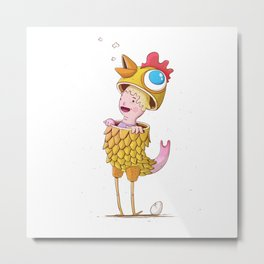 The chicken man Metal Print