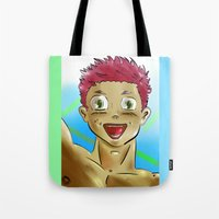 yaoi Tote Bags featuring yaoi boy by bgallery