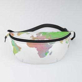 World Map - 8 Fanny Pack