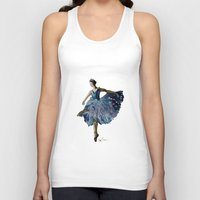 ballerina Tank Tops featuring Ballerina  by Kelly Baskin