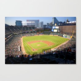 Orioles Baseball Tilt Shift Canvas Print
