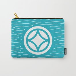 Motif Yellow Waves Carry-All Pouch