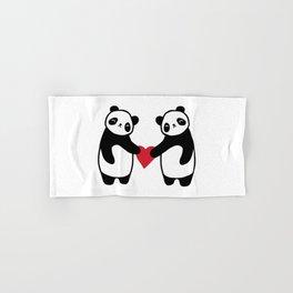Panda Love  panda bear in love Hand & Bath Towel