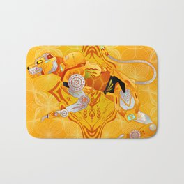 Yellow Batik Lion Bath Mat