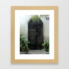 secret door, mombasa, kenya Framed Art Print