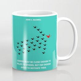 Lab No. 4 - Leaders Motivation John Maxwell Inspirational Quotes Poster Coffee Mug