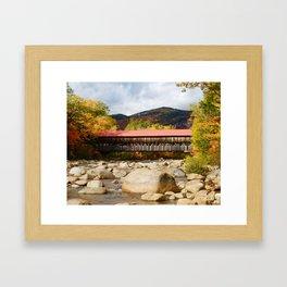 New England Covered Bridge Framed Art Print