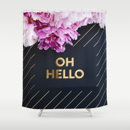 Oh hello Peonies Shower Curtain