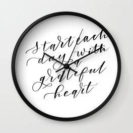 Grateful Heart Wall Clock