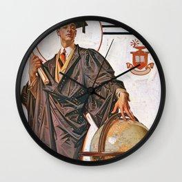 Joseph Christian Leyendecker - June Graduation - Digital Remastered Edition Wall Clock