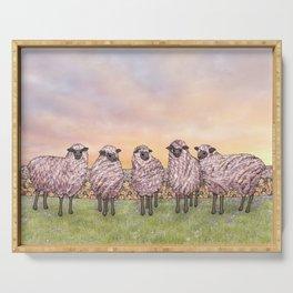 sunrise sheep Serving Tray