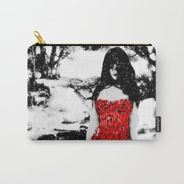 Sweet Black Angel Carry-All Pouch