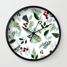 Blue Christmas Wall Clock
