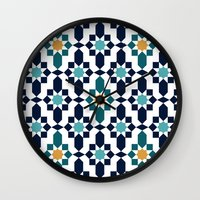 islam Wall Clocks featuring Marrakesh by Patterns and Textures
