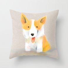 Corgi love Throw Pillow