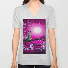 MOONLIGHT-PINK Unisex V-Neck