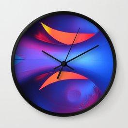 Reflective Moon Wall Clock