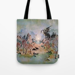 Dragon Hills Tote Bag