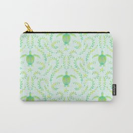 Sea Turtle Watercolor Pattern Carry-All Pouch