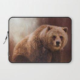 Great Strength - Grizzly Bear Art by Jordan Blackstone Laptop Sleeve