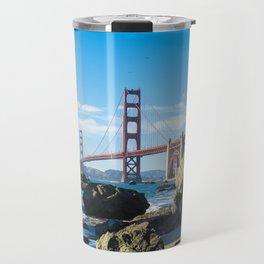 Golden Gate Bridge from Baker Beach Travel Mug