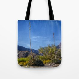 Desert Flowers in the Anza-Borrego Desert State Park, Southern California Tote Bag