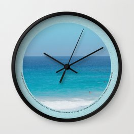 Thoughts of the Sea Wall Clock