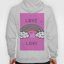 LOVE IS LOVE rAINBOW Hoody