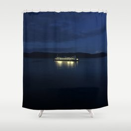 Ferry at dusk Shower Curtain