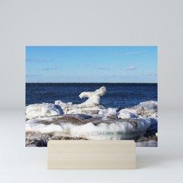 Abstract Ice Sculpture Mini Art Print