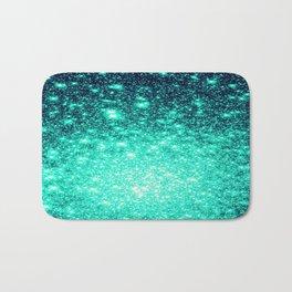 Stars Ombre Cool Aqua & Teal Bath Mat