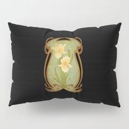 Art Nouveau Flowers Pillow Sham