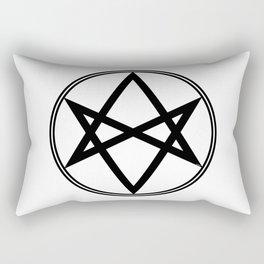 Men of Letters Symbol Black Rectangular Pillow