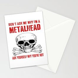 Metalhead - Funny Rock Black Dark Heavy Metal Stationery Cards