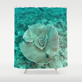 Large Coral Rose Shower Curtain