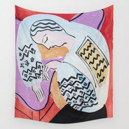Henri Matisse - The Dream - 1940 Artwork Wall Tapestry