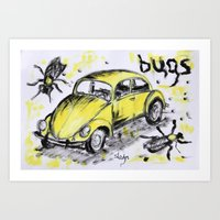bugs Art Prints featuring bugs by sladja