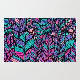 Colorful Feathers Rug