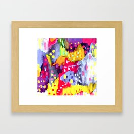Painted Party Framed Art Print