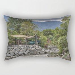 Pastaza River and Leafy Mountains in Banos Ecuador Rectangular Pillow