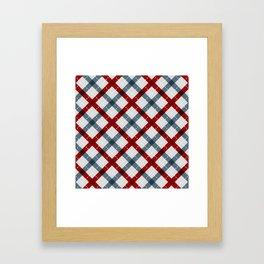Colorful Geometric Strips Pattern - Kitchen Napkin Style Framed Art Print