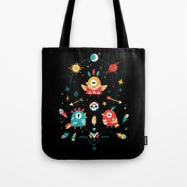 Strange Bird Pattern Tote Bag