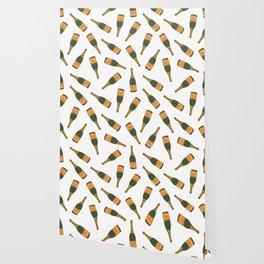 Champagne Bottle Pattern Wallpaper