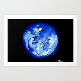 ANGELS ARE UNIVESAL!! Art Print