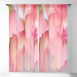 Artsy abstract blush pink watercolor brushstrokes Blackout Curtain