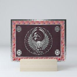 Japanese Swan Traditional 2 Motif Mini Art Print