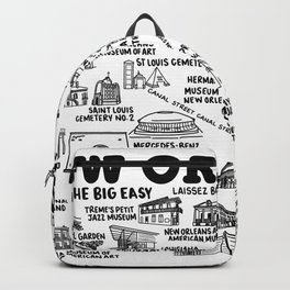 New Orleans Map  Backpack